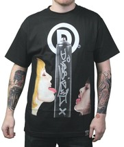Dissizit Mens Black Sexy Women Licking Big D Spray Paint Can T-Shirt NWT image 1