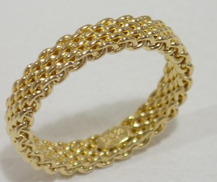 9423f0b37 Tiffany &Co Somerset 18K Yellow Gold Mesh and 20 similar items. S l1600