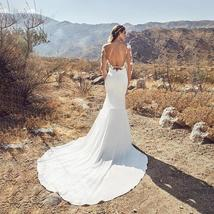 Sexy Lace Backless Bridal Gowns With Long Sleeves Boho Wedding image 2