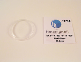 Watch Crystal For SEIKO 5 6119 7460 / 6119 7430 Automatic Plexi-Glass Pa... - $18.96