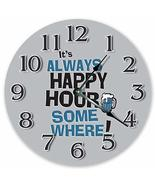 "Sugar Vine Art 10.5"" It's Always Happy Hour Somewhere - Positivity Clock... - $24.29"