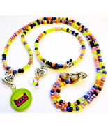Retro 70s Design Beaded Necklace & Bracelet Handmade Fashion Jewelry Acc... - $19.99