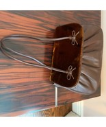 Pre-owned SISSI ROSSI Brown Leather Bag with Faux Fur Flap - $78.21