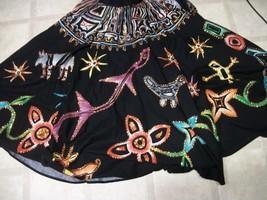 Boho Gypsy Ethnic Me Jane 2 Side Wrap Sequin Bl... - $34.64