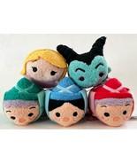 "New Disney Sleeping Beauty Set of 5 Mini Tsum Tsum 3.5"" Stylized Plush Toys - $89.05"