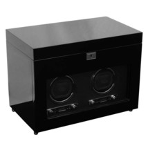 WOLF Savoy 2.7 Double Watch Winder with Storage Dual 2 - Black - $999.00