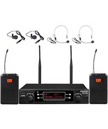 Aplomb 80-Channel Dual UHF Wireless Microphone System,inp cordless mic s... - $132.85