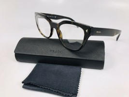 New PRADA VPR 21S 2AU-1O1 Dark Havana Eyeglasses 51mm with Case - $84.15