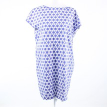 Periwinkle purple geometric cotton blend DIANE VON FURSTENBERG shift dre... - $39.99