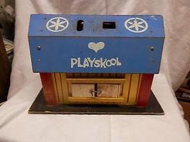 Vintage Playskool LOCK UP BARN Play Set 452 Shapes toy wood  - $29.99