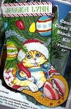 Design Works Kitten Cat Ornament Tree Christmas Cross Stitch Stocking Ki... - $29.95