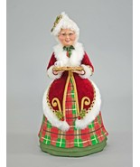 katherine's Collection Traditional Mrs Santa Claus cookies Tartan red gr... - $103.99