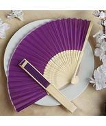Wholesale Silk Folding Wedding Party Favor Fans Purple YSefa - $131.68