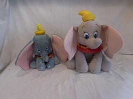 "Disney Plush Dumbo The Elephant Stuffed Toy 15"" Plus Small 11"" Dumbo - $23.02"
