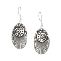 Antique Tribal Oxidized Silver Hook drop Earrings Fashion Jewelry - $36.19
