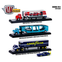 Auto Haulers Release 19 \A\, 3 Trucks Set 1/64 Diecast Models by M2 Mach... - $77.18
