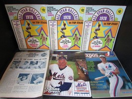 5 ASST BASEBALL MAGAZINES ALL STAR GALLERY 1978-METS 1995-EXPOS 1990-OLD... - $6.95