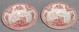 Set (2) Johnson Brothers OLD BRITAIN CASTLES PATTERN Rim Cereal Bowls EN... - $15.83