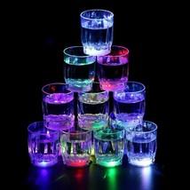 Beer Pong 10oz LED Flash Light Up Cups Shot Glass Rainbow Bar Night Part... - $47.99+
