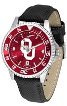 Oklahoma Sooners Men Competitor Leather AnoChrome Watch Bezel - $103.50