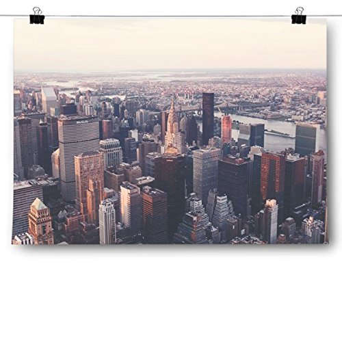 Primary image for Inspired Posters Birds Eye View New York City Skyline Poster Size 8x10