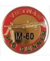 Army Vietnam M-60 Pig Gunner Pin - $15.33