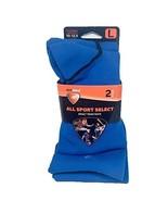 SofSole All Sport Sock Adult Team Sock 2 Pair Bright Blue Sz L - $12.86