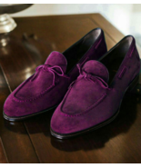 Customized Purple Suede Tussel Mocassin Casual Wear Shoes - $156.73+