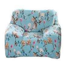 George Jimmy Fashion Single Person Sofa Slipcovers Modern Style Couch Covers-Blu - $50.97