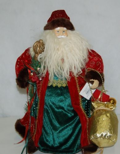 Sterling 382528 Traditional 16 Inch Santa With Staff And Gift Bag