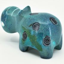 Crafts Caravan Soapstone Speckled Blue Hippopotamus Hippo Figurine Made Kenya image 3