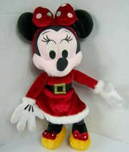 Disney Parks Minnie Mouse Christmas Holiday Plush Santa Mrs Claus Dress ... - $24.74