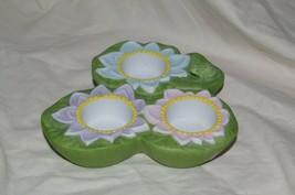 PartyLite Pond Lily Tealight Trio Pad Party Lite - $13.99