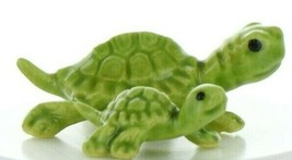 Hagen Renaker Miniature Turtle Mama and Baby Ceramic Figurine Set image 1