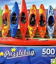 Row of Colorful Kayaks - 500 Piece Jigsaw Puzzle - Puzzlebug - p 001 - $9.69