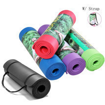 "Extra Thick Non-slip Yoga Mat Pad Exercise Fitness Pilates w/ Strap 72"" ... - $396,46 MXN"
