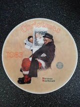 Norman Rockwell Christmas 1983 Collector Plate Santa In The Subway LE #A18369 - $18.99