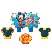 Mickey Mouse Clubhouse Birthday 4 pc Candle Set Cake Topper - $5.93