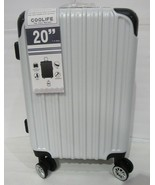 New Coolife 1 Luggage Suitcase PC+ABS Spinner White Hard plastic shell 2... - $72.99