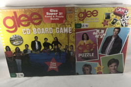 New Sealed Glee CD Board Game With Puzzle Card Game 3 in 1 - $19.20