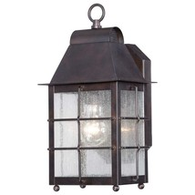 Minka Lavery - Willow Point 1-Light Chelesa Bronze Outdoor Wall Lantern Sconce - $123.74