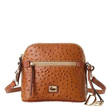 Dooney & Bourke Ostrich Domed Crossbody Caramel Purse Handbag
