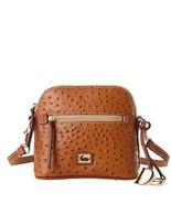 Dooney & Bourke Ostrich Domed Crossbody Caramel Purse Handbag - $219.00