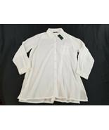 new Lauren Ralph women shirt blouse top swimwear LR6GJ56M white XL MSRP - $41.97
