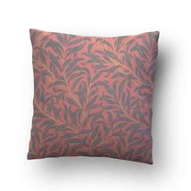 Vintage Floral Willow Bough Soft Pink Throw Pillow Case Decorative Cushi... - $17.29