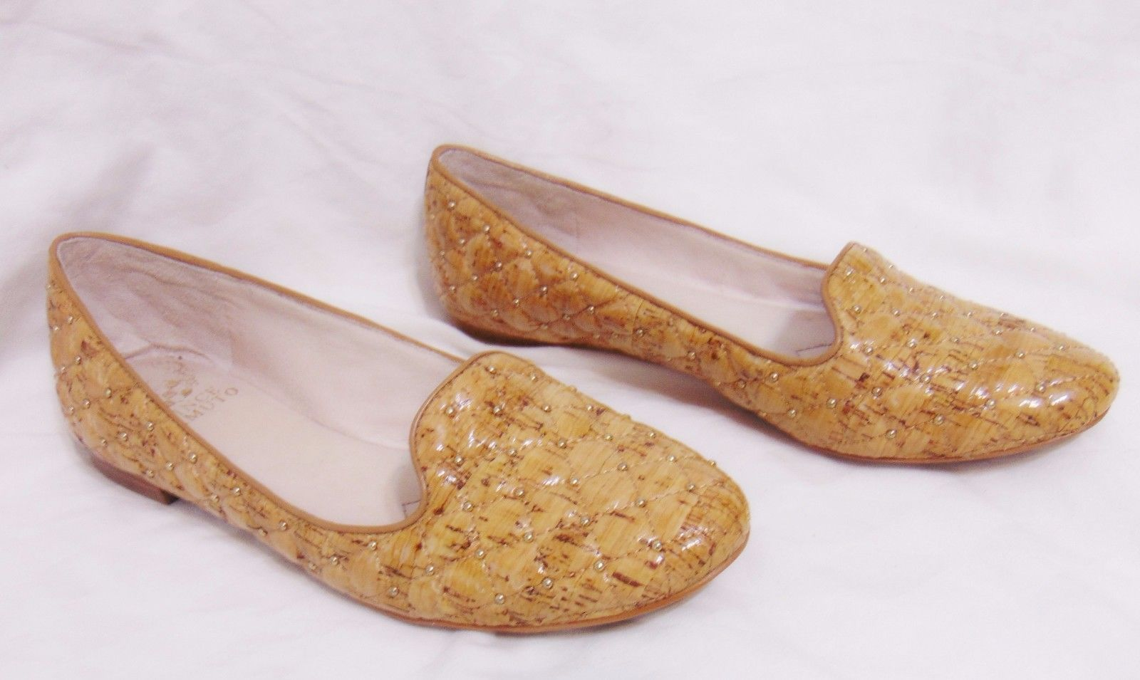 "VINCE CAMUTO ""Lilliana 2"" Women's Loafer Flats Sz 8 M Beachwood Lacqured Cork"