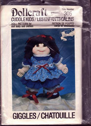Dollcraft 1984, #305 Cuddle Kids, Giggles Soft Doll, Body Clothes, Giggles Style