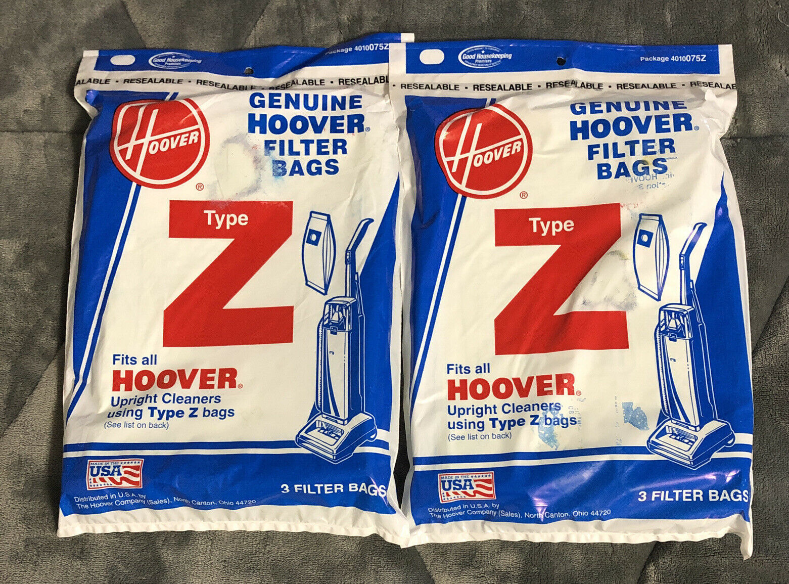 Primary image for 6 Hoover 4010075Z Type Z Canister Upright Vacuum Cleaner Paper Bags - Genuine