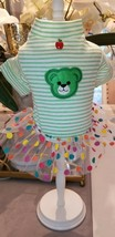 XS Yorkie Tea Cup Puppy Pom Chihuahua Green Stripe Bear Polka Dot Dress ... - $14.99