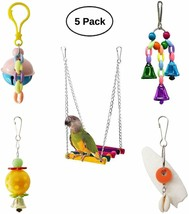 parakeets,macaws, parrots, love birds, Set of 5 Colorful Bird Toys Swing... - £22.04 GBP